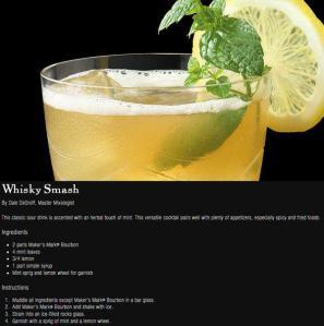 Maker's whisky smash