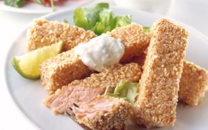 Sesame-crusted-salmon