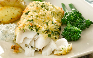 crispy-baked-hake-with-yogurt-tartar-sauce