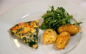 ham-and-spinach-frittata
