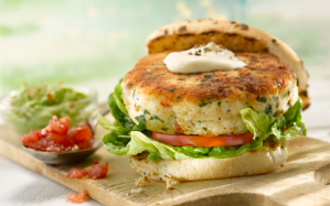 Fish-burger-with-tomato-salsa-and-chunky-guacamole