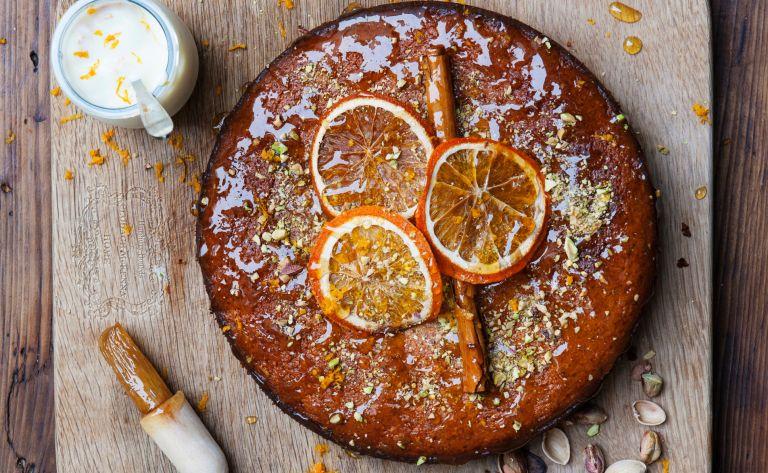 clodagh orange pistachio