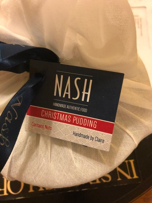 nash christmas pudding