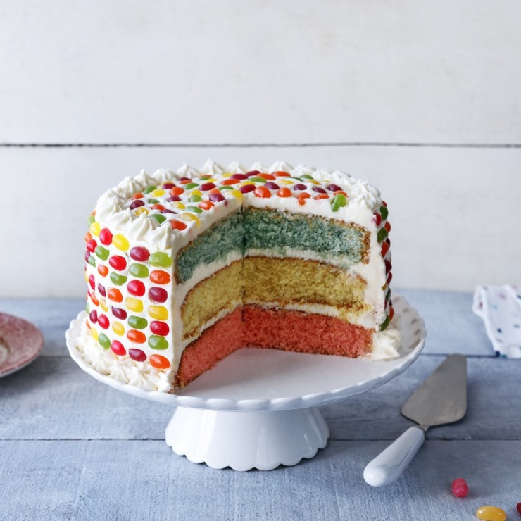 odlums ranbow cake