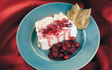 terrine-of-vanilla-ice-cream-with-merringue-and-cranberry-sauce