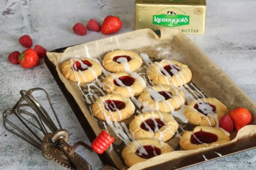 kerrygold jam drop cookies