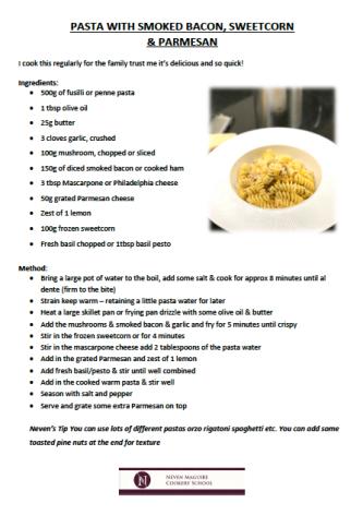 macnean pasta recipe