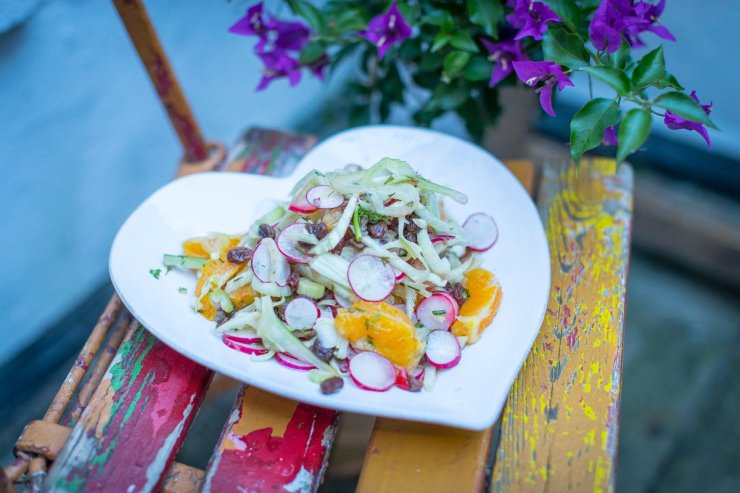 fitness on toast vegan salad