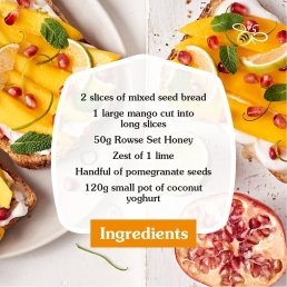 rowse honey toast recipe